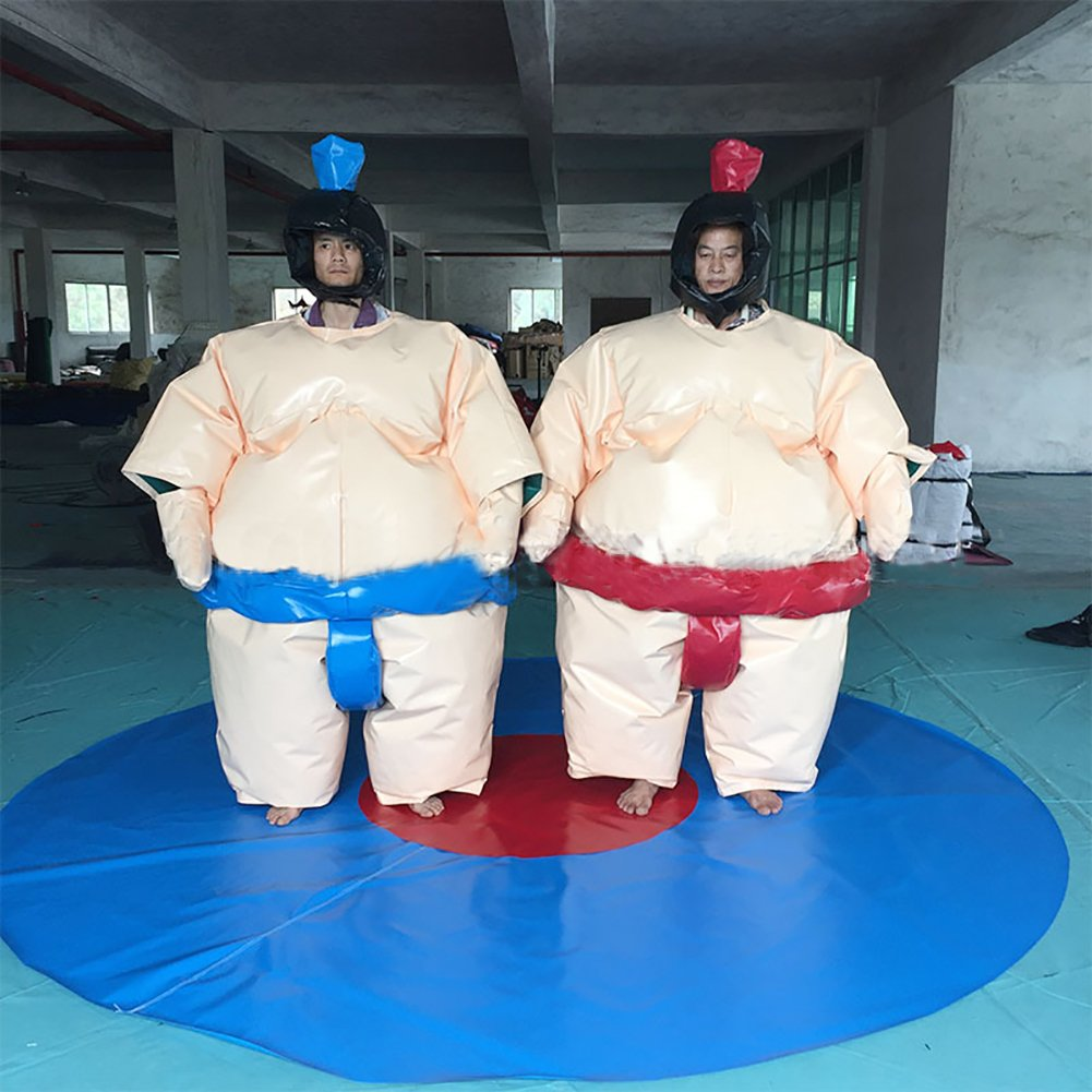 Binglinghua Wrestling Sumo Fat Suits Blow Up Fancy Dress Fun Funny Costume Halloween Cosplay (Adult) by Binglinghua®