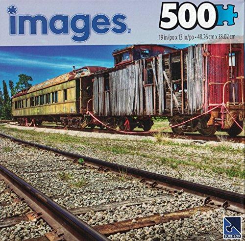 Railway Cottage (500 Piece Puzzle - Railway Wagon Trains)