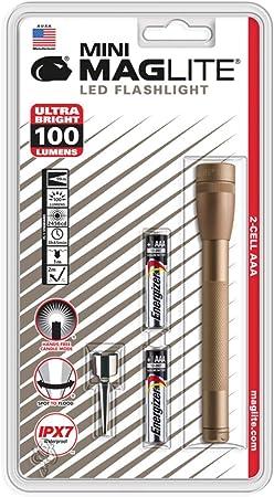 Maglite  Mini  100 lumens Gray  LED  Flashlight  AAA Battery