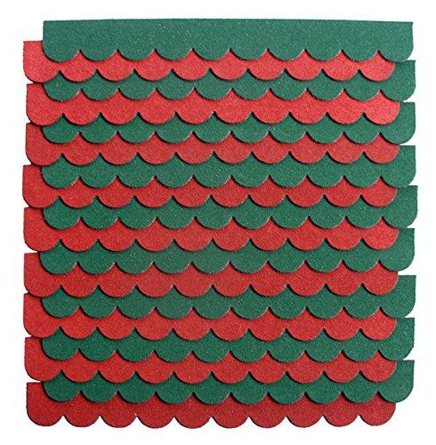 crash-marek 2m/²-5-Sets Mini Dachschindeln,rot,Dachpappe,Hundeh/ütte,Vogelhaus,Hasenstall,Gehege,Abdeckung,Biberschwanz,Sandkasten