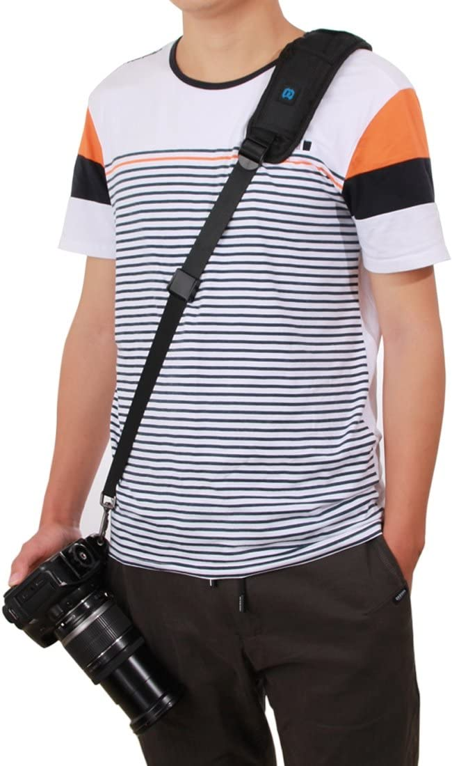 HEGUANGWEI Quick Release Anti-Slip Soft Pad Nylon Single Shoulder Camera Strap with Metal Hook for SLR//DSLR Cameras