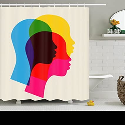 Shower Curtains Custom Decorative Afro Women African Silhouette Design Waterproof Polyester Fabric Home Bathroom Decor Bath