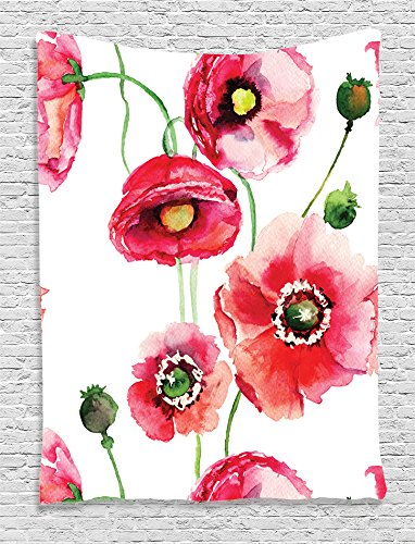 Ambesonne Watercolor Collection Stylized Accessories