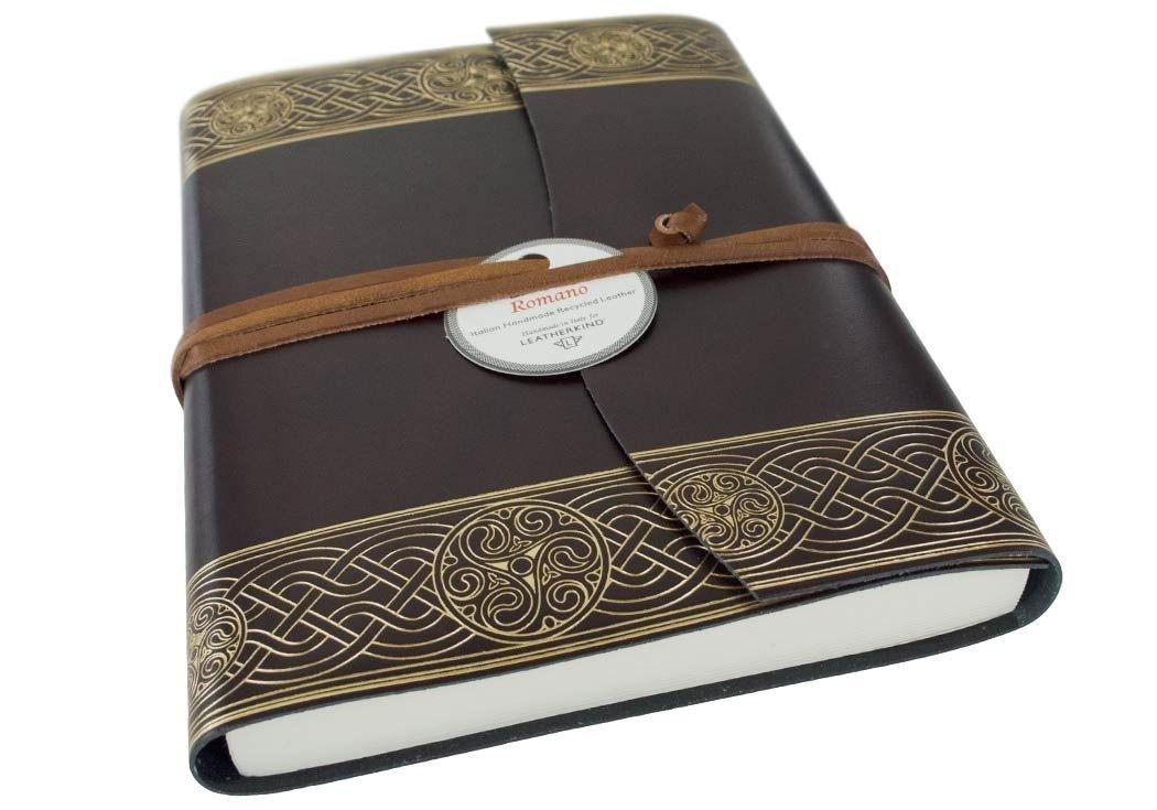Olympia Recyceltes Leder Nachfüllbares Notizbuch Rustikal Gold, A5 Blanko Seiten - Handgefertigt in Italien von LEATHERKIND B07BQ5JTP8    Einfach zu spielen, freies Leben