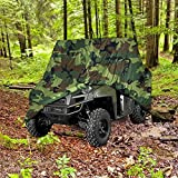 """NEH HEAVY DUTY WATERPROOF SUPERIOR UTV SIDE BY SIDE COVER COVERS FITS UP TO 120""""L W/ ROLL CAGE CAMOUFLAGE COLOR ATV COVER RHINO RANGER MULE GATOR PROWLER RAZOR PROWLER RANCHER FOREMAN FOURTRAX RECON"""