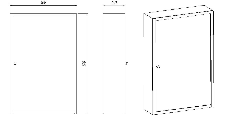 Clickbasin Single Door Wall Mirror Bathroom Storage Cabinet 400mm x 600mm MONACO Moda CB-20