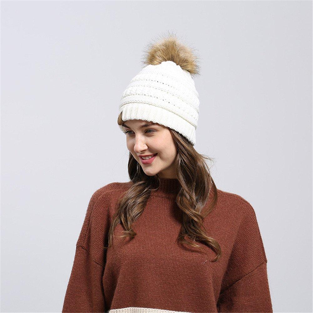 DEELIN Hombres Mujeres Holgados Caliente Crochet Invierno Lana Tejer ...