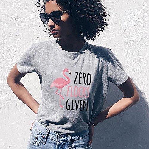 Regalo Donna Corta Fenicottero Flamingo Best per Grigio Moda Maglietta T Friend Estate Elegante Shirt Shirt Stampa Manica Girocollo 0BZO0FqA