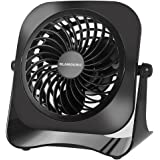 Desk USB Fan - Glamouric Quiet Mini Personal Air Circulator 4 Inch Small Portable Size 2 Speeds 360° Angle Adjustable Table Cooler for Work Home Office Dorm Study