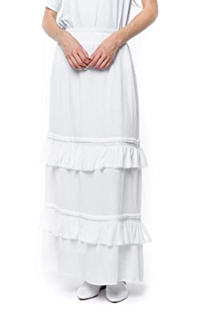 6031401e25b ModWhite Orchid White Temple Skirt at Amazon Women s Clothing store