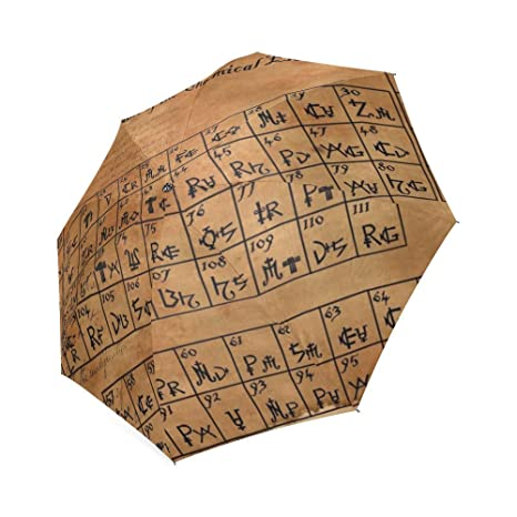 Amazon Best Design High Quality Folding Umbrella Periodic Table