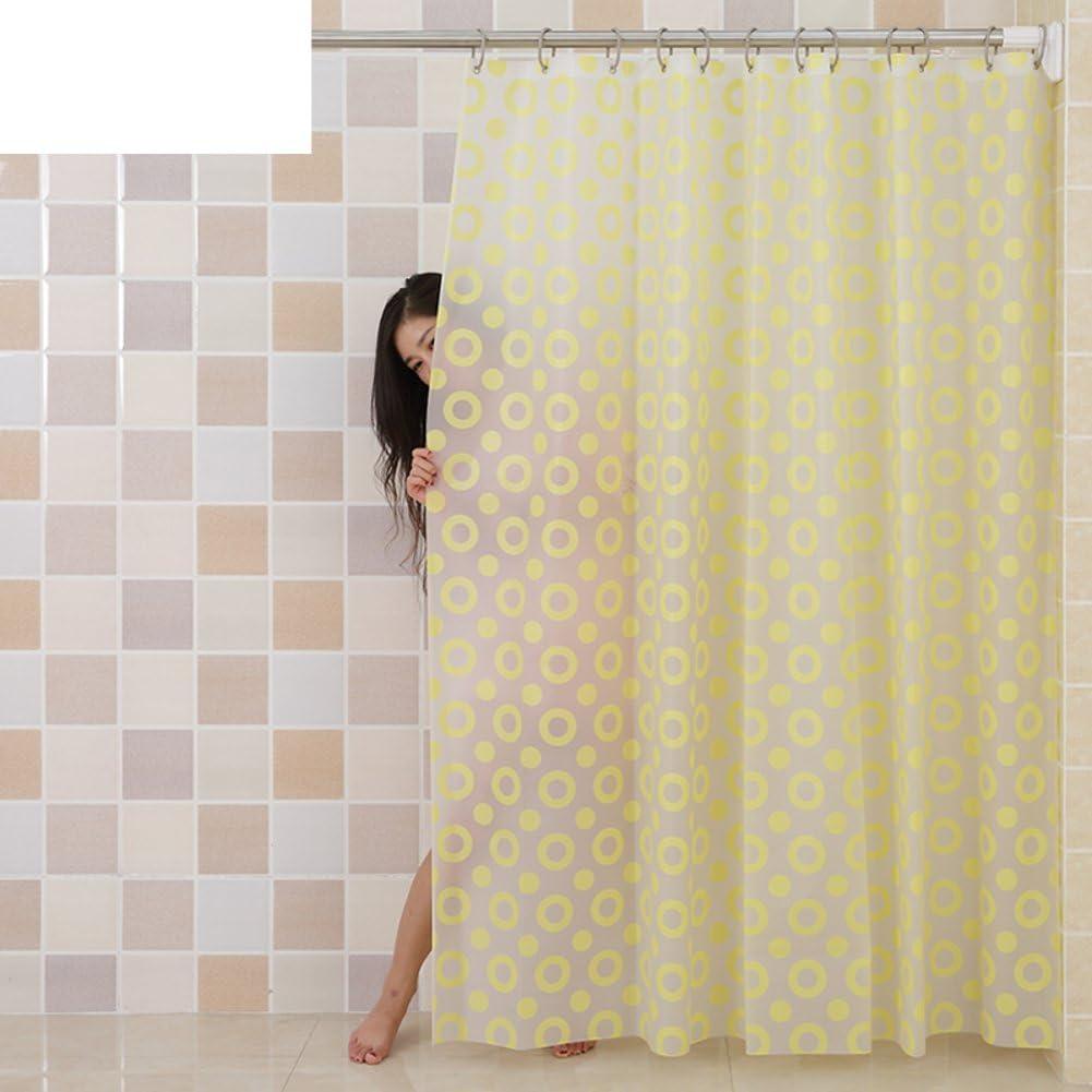 Cortina de ducha del pvc del círculo Cortina de ducha plástica de eva verde Prueba de moho A prueba de humedad Impermeable] Mampara de baño cortina colgante Cortina del baño-L 180x180cm(71x71inch): Amazon.es: