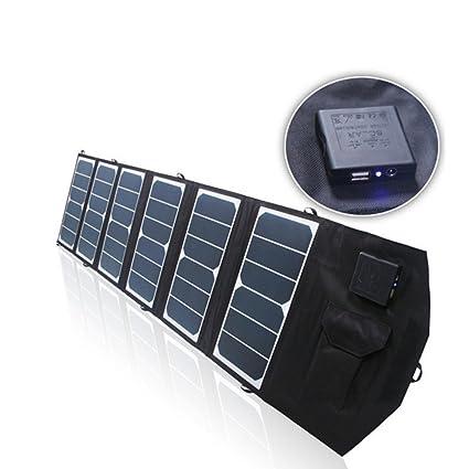 Cargador solar plegable, 19V Doble Puertos de Salida USB ...