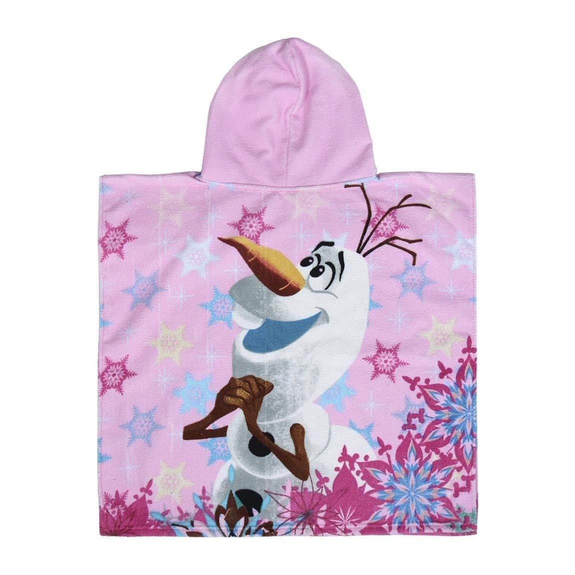 Color Rosa Disney Toalla de Playa con Capucha de Frozen beb/és y ni/ños peque/ños