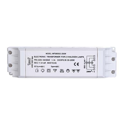 33 opinioni per Liqoo Trasformatore Elettronico 220V a AC 12V 250W per Lamapde Alogene a LED AC