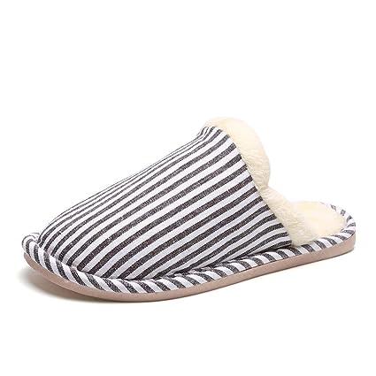 Romanticsmy Zapatillas de casa para Mujer Zapatillas de Interior Antideslizantes Lavables con Espuma de Memoria de