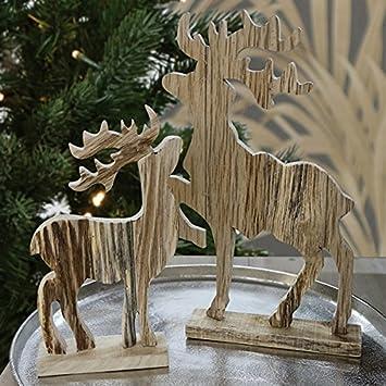 Tischdeko Stern,Rentier,Baum in silber,Dekoration,Weihnachten,Raumdeko