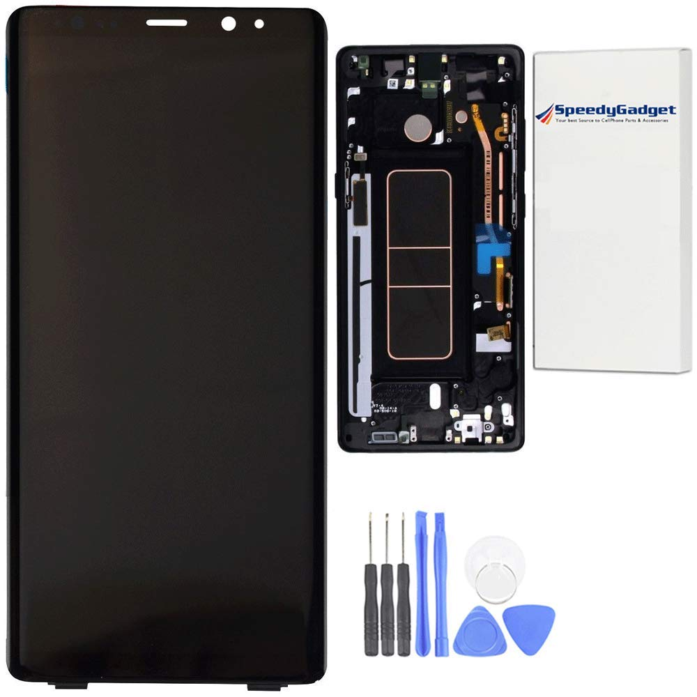 [Black Frame] for Samsung Galaxy Note 8 LCD Display Touch Screen Digitizer Replacement by SpeedyGadget