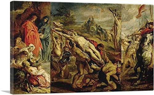 ARTCANVAS The Elevation of The Cross 1609 Canvas Art Print by Peter Paul Rubens - 18