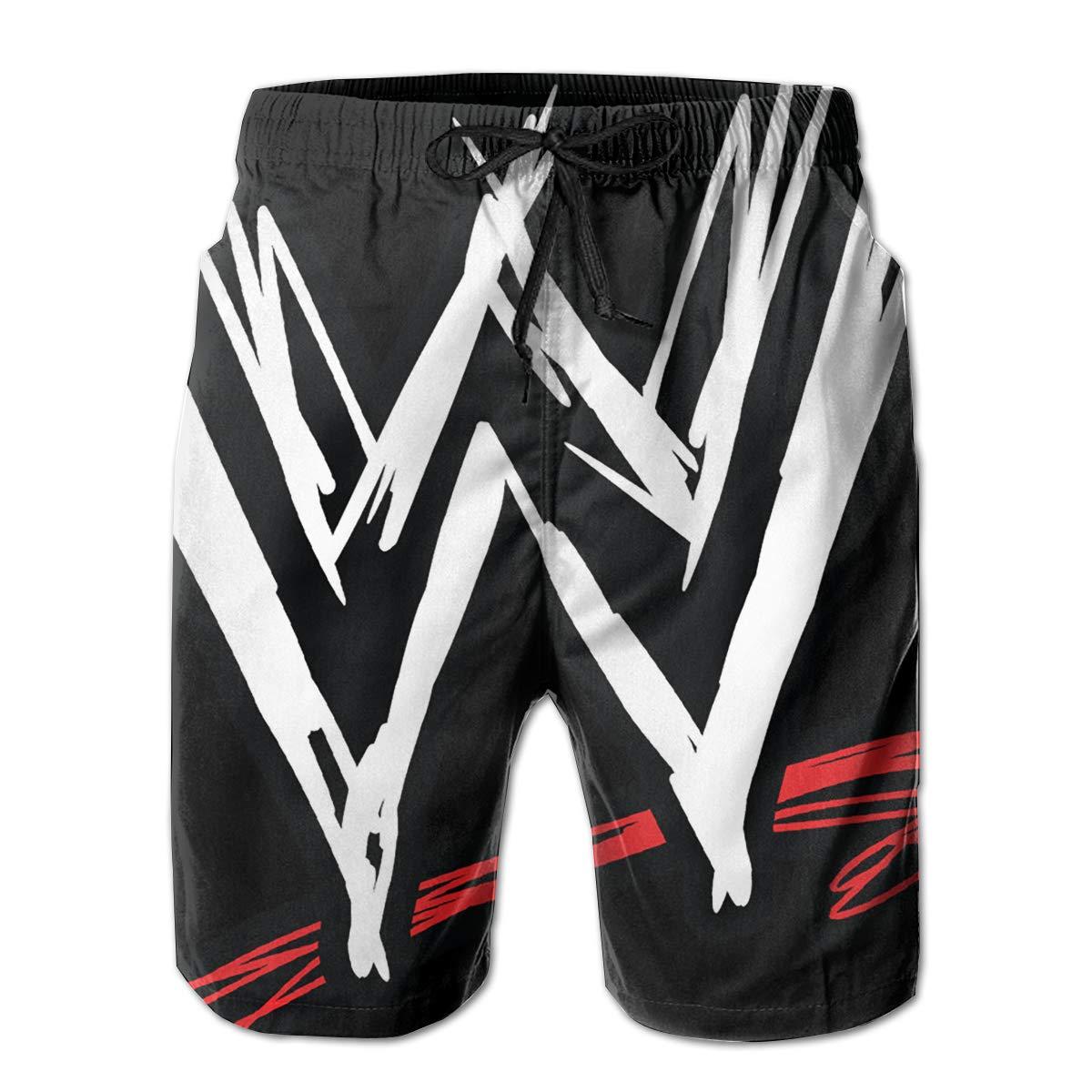 Mens WWE Logo Shorts Lightweight Swim Trunks Beach Shorts,Boardshort 30