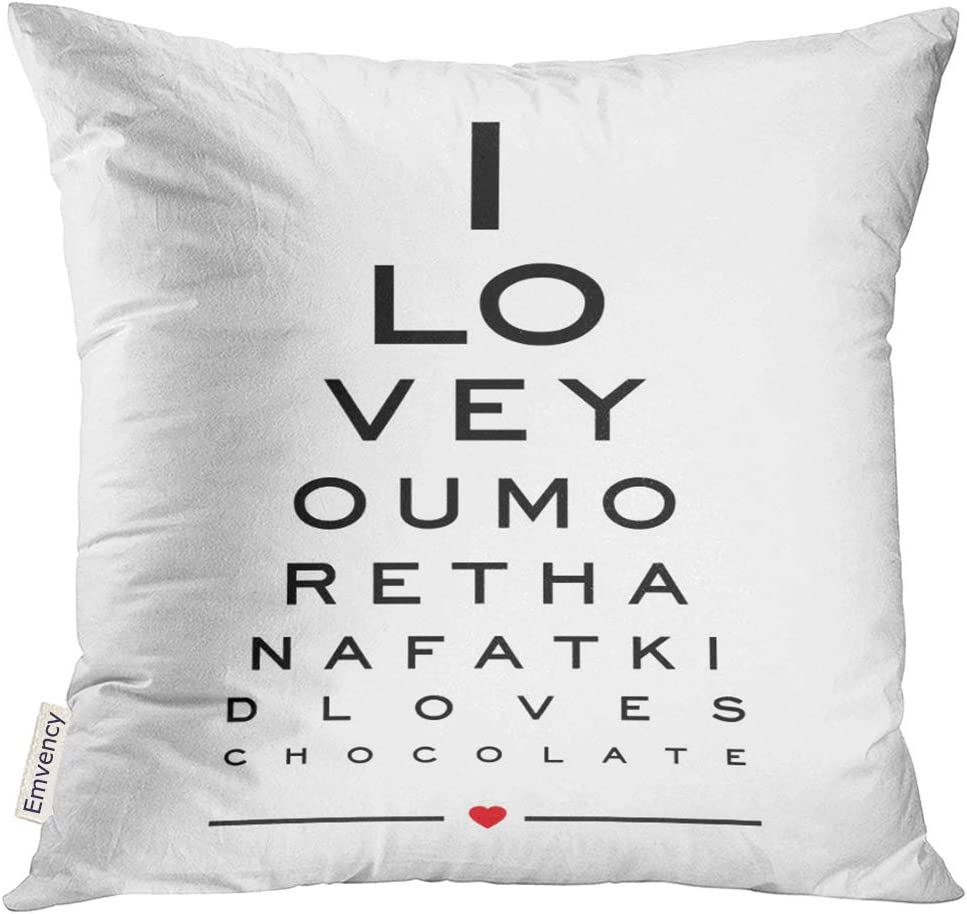 I Love You 18x18 Square Pillow Case