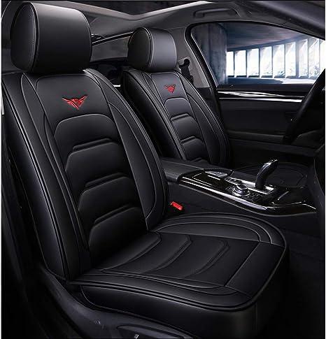 Impermeabile PU Leather Coprisedile Auto Cuscini Set Completo ,universale Per BMW 1 3 5 7 Serie X1 // X3 // X5 // X6 Colore : Black Luxury 5 Posti