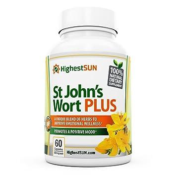 Amazon.com: St Johns Wort PLUS Mood Enhancing Herbal Blend incl. L ...