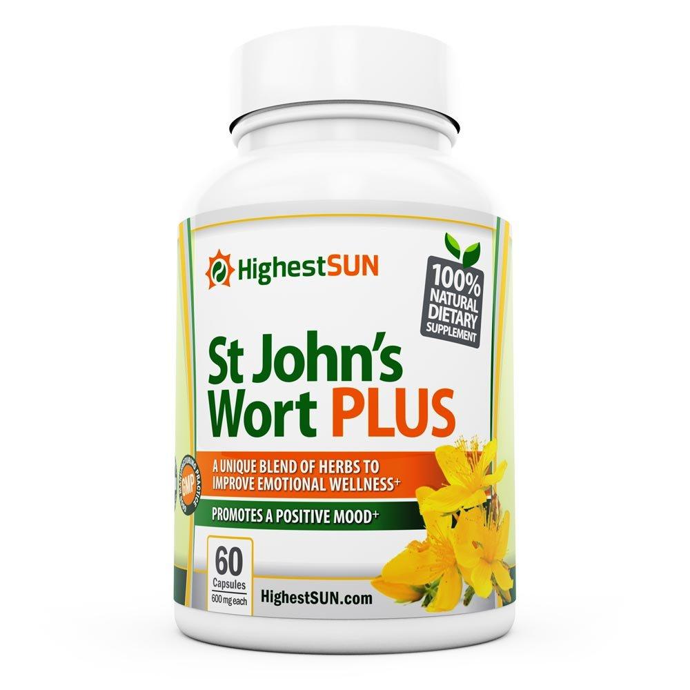 St Johns Wort PLUS Mood Enhancing Herbal Blend incl. L-Phenylalanine, Ginkgo biloba, St. John's Wort Extract - Mood Booster Supplement - Promotes Positivity