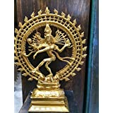 Dancing God Shiva Nataraja Hindu Statue for Home Mandir Temple Brass Sculpture