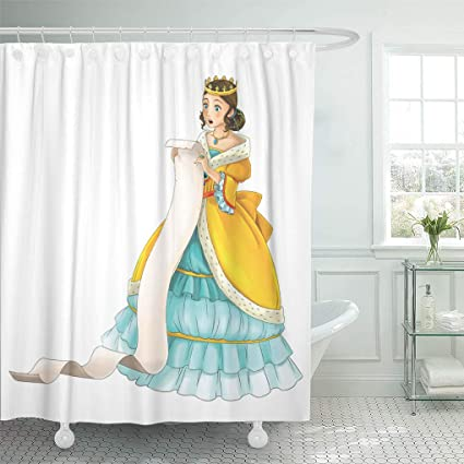 Emvency Shower Curtain Colorful Anime Fairytale Cartoon Character Princess For The Children Beautiful Curtains Sets