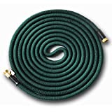 Expandable 75' Expanding Hose, Strongest Expandable Garden Hose on the Planet. Solid Brass Ends, Double Latex Core, Extra Strength Fabric