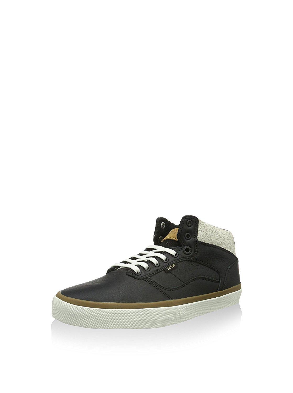 4acbed62aa Galleon - Vans Bedford Crackle Black Marshmallow Mens Mid Top Sneakers (8  Mens)