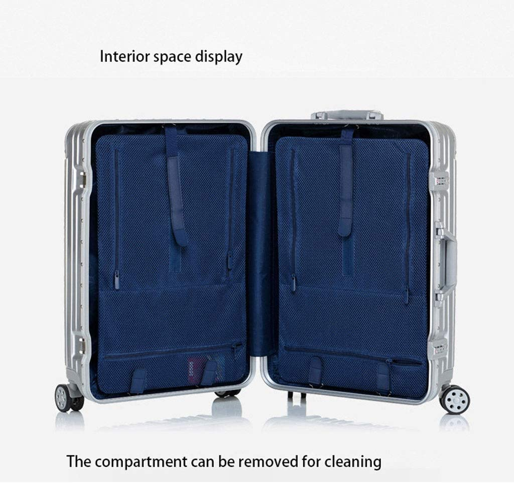 Minmin-lgx Luggage Lightweight Hardside 4-Wheel Spinner Luggage Set Color : Blue, Size : 20 20 Carry-On /& 29 Checked Suitcase