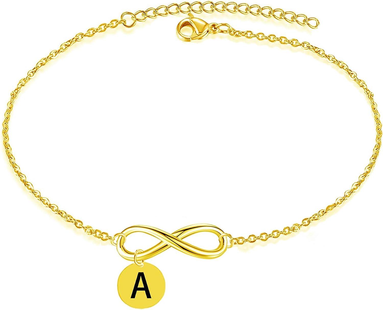 A - Z Initial Bracelet Gold...