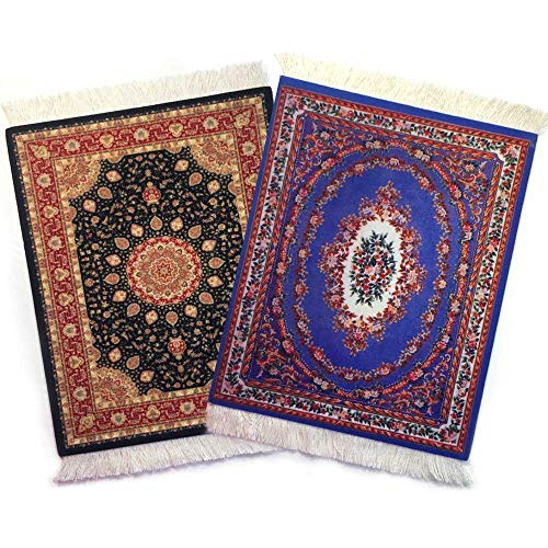 Rug Mouse Pads, Oriental Rug Mouse Pad, Woven Mousepad, Persian Rug Mouse Pad, Oriental Carpet Mouse Pad, 9