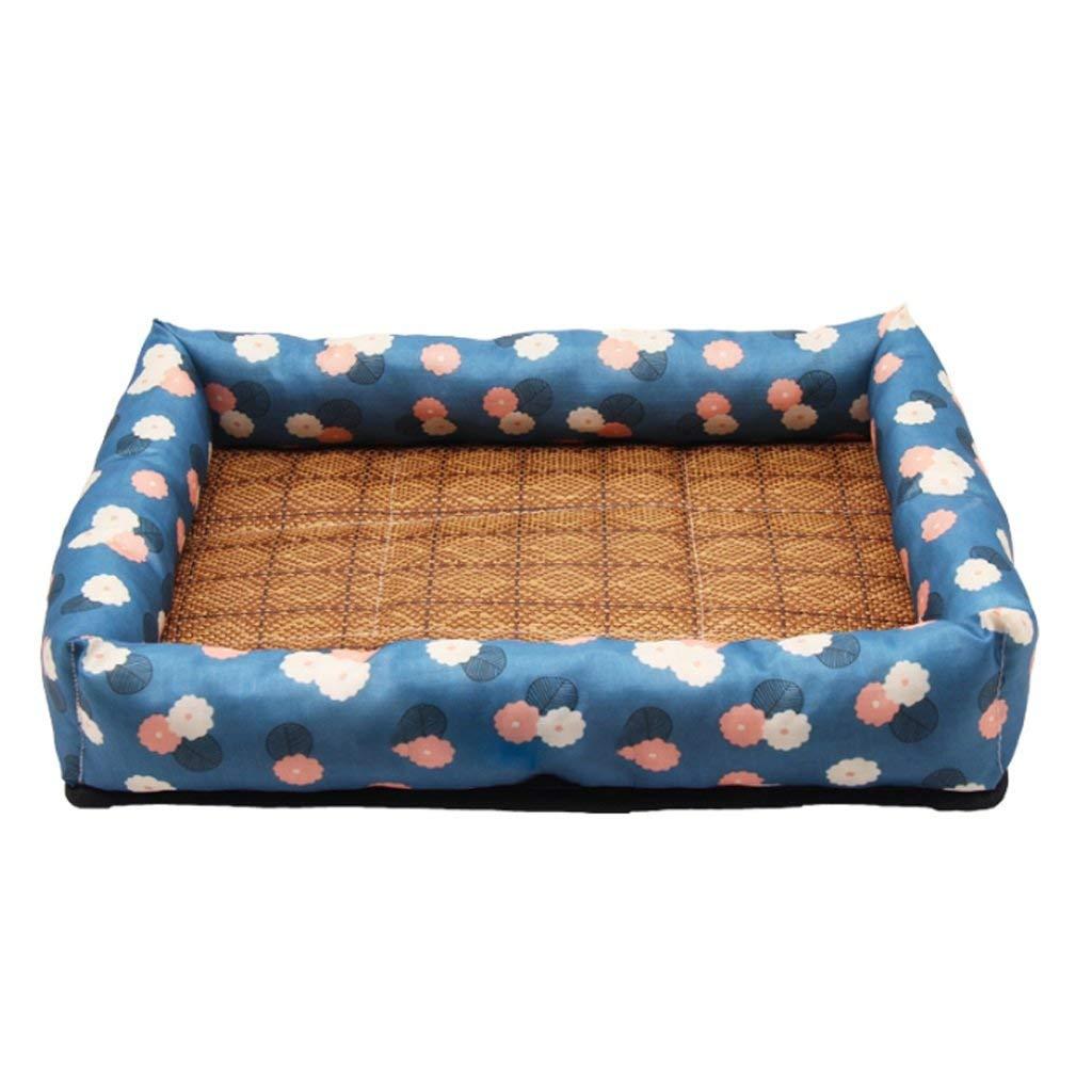 A L-5647CM A L-5647CM Kennel Pads Dog Beds Kennel Summer Cool Mat Dog Summer Dog Bed Pet Small Medium Dog Cat Cat Cat Full Set Pet Waterloo Cat Bed Pet Supplies Cover (color   A, Size   L-56  47CM)