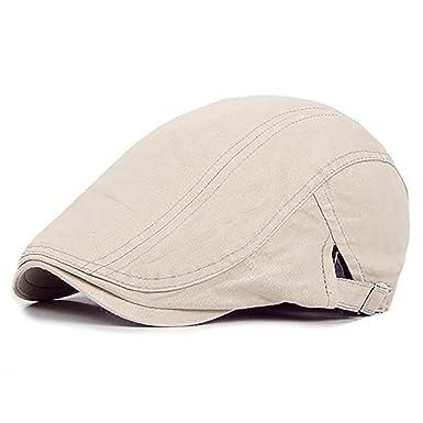 b1b8de87aa906 Sanwood® Mens Flat Cap Ivy Hat Solid Cotton Gatsby Cap Golf Caps:  Amazon.co.uk: Clothing