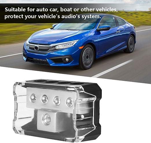 Aramox Power Distribution Strip,Car Audio Power Supply Distribution 10GA In 44GA Out Block Splitter