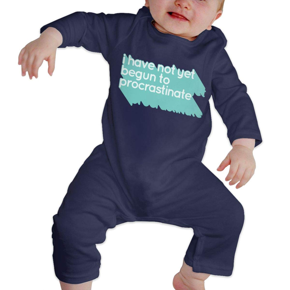 Baby Boy Girl Long Sleeved Coveralls NOT Begun to Procrastinate Baby Clothes