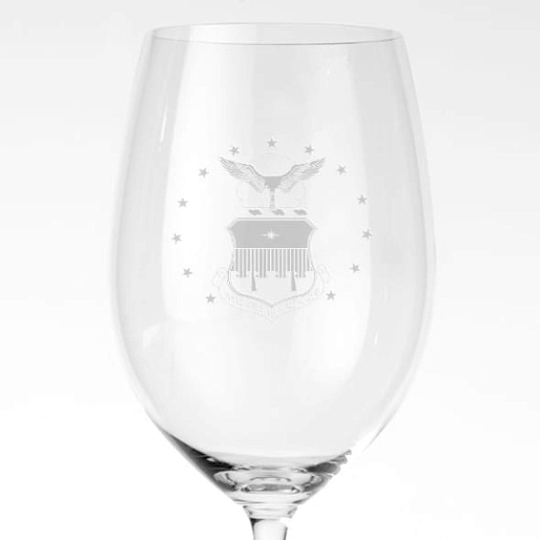 Etched English Bulldog on Elegant White Wine Glasses New Set of 2