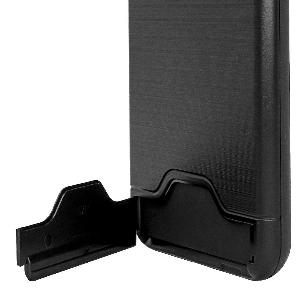 Rusee 3en1 Caja del Tel/éfono Volver a Prueba de Golpes de Protecci/ón Slim Duro H/íbrido de PC para el iPhone 7 Pulgadas 4.7-Negro Caso 7 Caso 7 iPhone iPhone 7 Casos