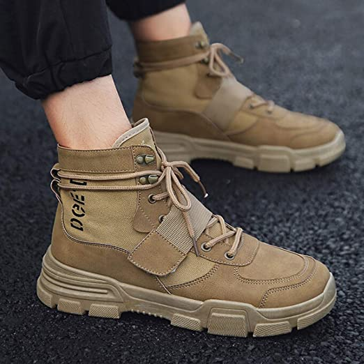 Amazon.com: Teresamoon Mens Flat Casual Shoes Non-Slip Comfort Boots Outdoor Hiking Boots (Most Wished & Gift Ideas): Home Audio & Theater