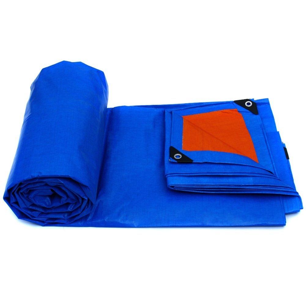MONFS Home Regenschutztuch wasserdicht Plane wasserdicht und Winddicht Gartenschutz Anlage Sonnencreme liefert LKW Fach Tuch Faltbare Anti-Oxidation (Farbe   Blau, Größe   10x12M)