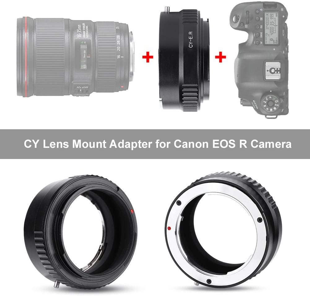 Acouto Adapter Ring for Contax CY Mount Lens to Canon EOS R Full FrameMirrorless Camera