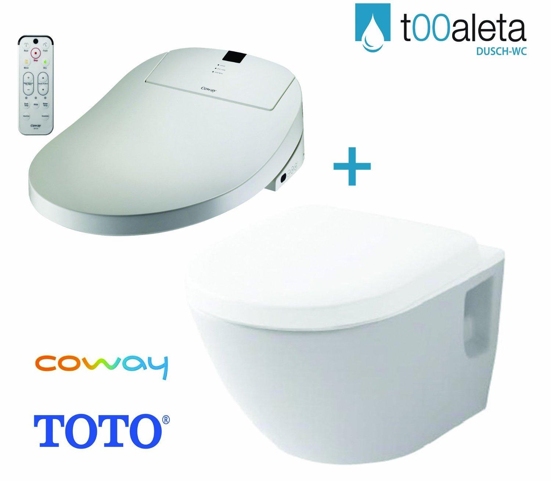 Coway ba13 BR Premium toilet bidet seat + TOTO NC Series WC Rimless ...