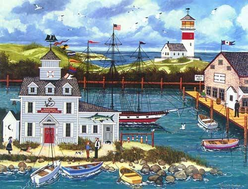 PEACEFUL HARBOR is a LIMITED EDITION HAND SIGNED Serigraph by WOOSTER SCOTT