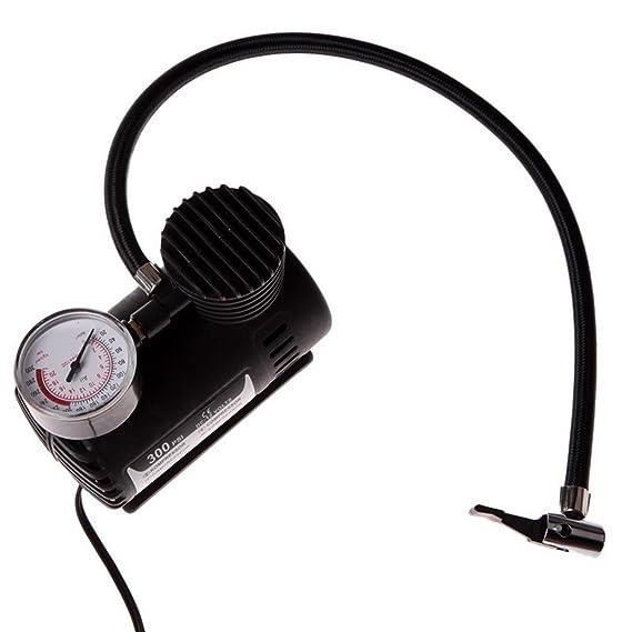 Mini Compresor de Aire Mechero Coche 12 V Manometro para rueda balón bici 2421: Amazon.es: Electrónica