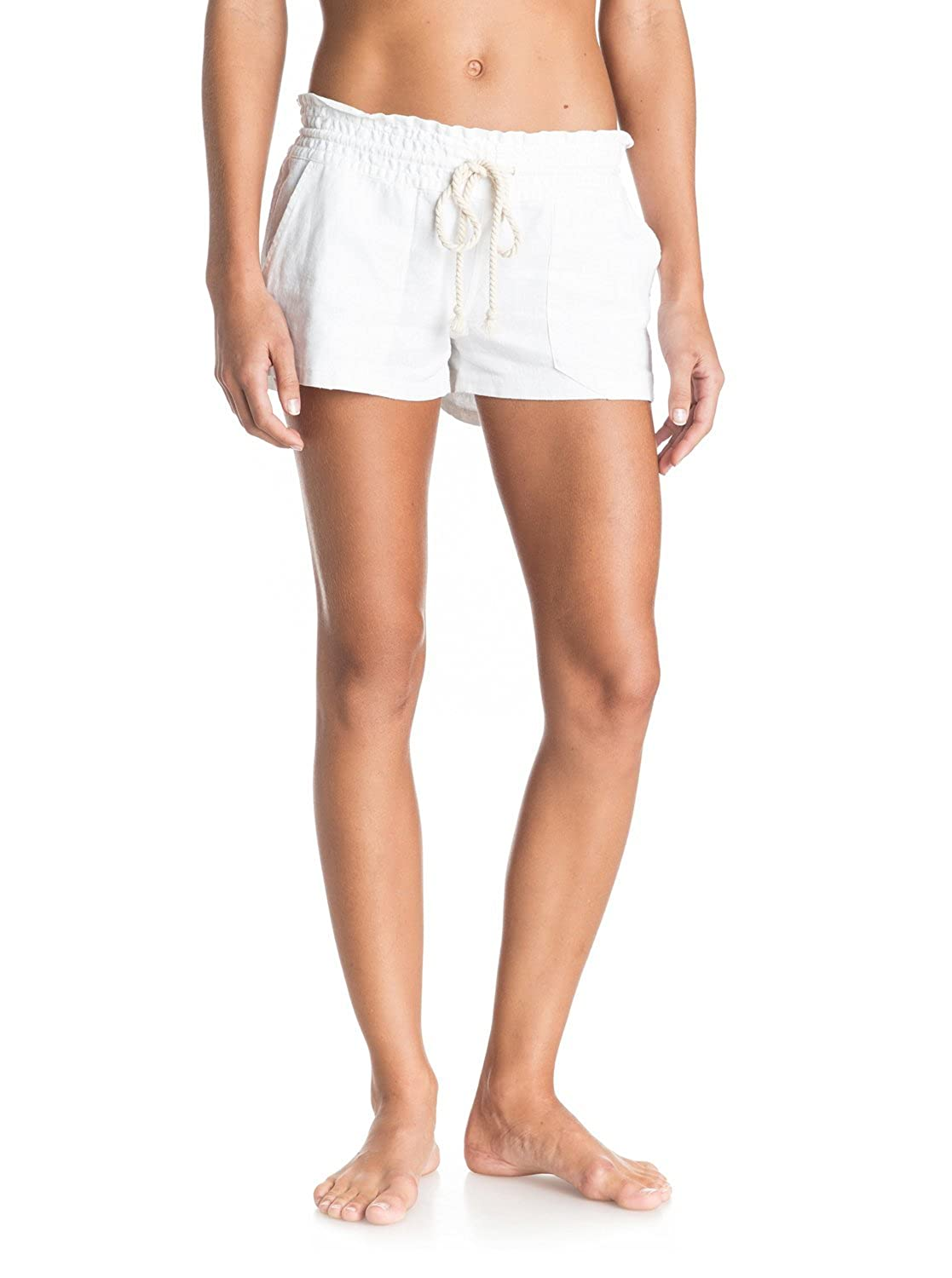 Roxy Women's Oceanside Beach Shorts & Travel Sunscreeen Spray (15 SPF) Bundle