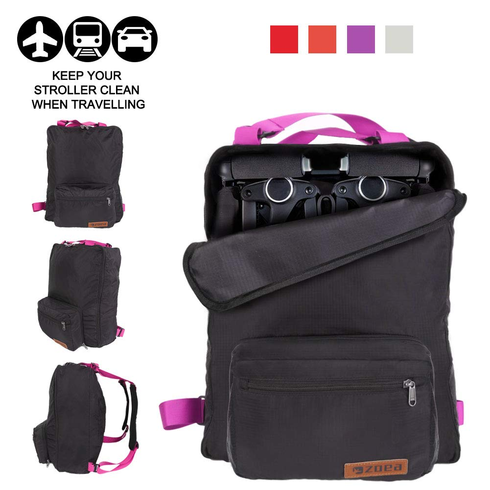 ZOEA Lightweight Stroller Travel Bag Compatible with Gb Pockit Stroller and Gb Pockit Plus Lightweight Stroller Purple