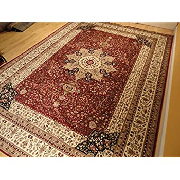 Luxury Red High Dense Silk Rugs Traditional Red Large Area Rugs 8x12 Living  Rooms Rug 8x11